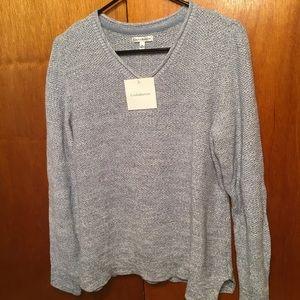 Croft & Barrow size XL blue Vneck sweater NWT